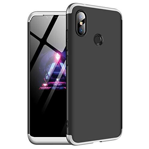 Funda Xiaomi Redmi Note 6 Pro, Carcasa la Cubierta Anti Arañazos y Anti-Choque, de Alta Dureza, Ultra - Delgado, Peso Ligero teléfono Case (Redmi Note 6 Pro, Gris + Negro)