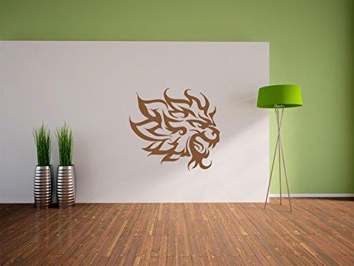 Tribal Lion Adesivo, murale, autoadesivi della parete, autoadesivi della parete decorazione per soggiorno, camera da letto e il formato dei bambini: 1200x1090mm