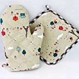 Proof Microwave Oven Gloves & Heating Pad Combo (Randmom Colour and Design)