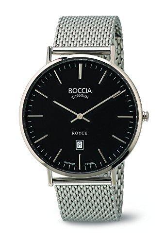 Boccia - 3589-07 - Montre Homme - Quartz - Analogique - Bracelet Acier Inoxydable Argent