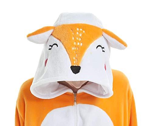 ABYED® Kostüm Jumpsuit Onesie Tier Fasching Karneval Halloween kostüm Erwachsene Unisex Cosplay Schlafanzug (Mens Fox Kostüm)
