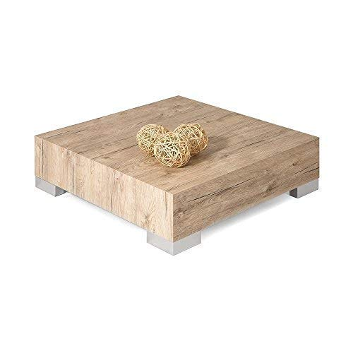 Mobili Fiver Icube Table de Salon, Bois, Beige (chêne naturel), 60 x 60 x 18 cm