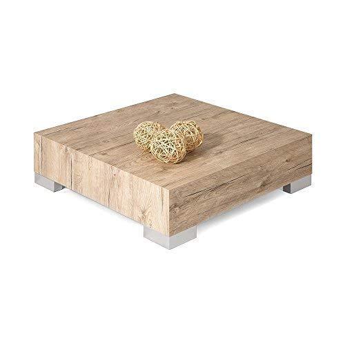 Mobili Fiver Icube Table de Salon, Bois, Beige (chêne naturel), 60 x 60 x 18 cm
