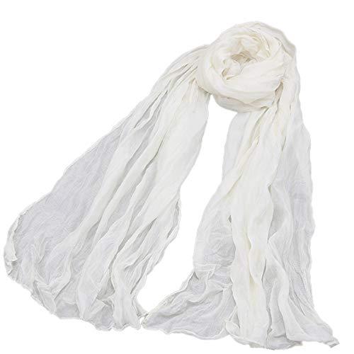 Damen-Halstuch leicht uni einfarbig dünn unifarben Schal weich Sommerschal Übergangsschal,Schal-Mode-Retro- weiblicher Vielzweckschal-Schal - Wollschal Mit Taschen