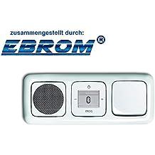 Busch Jäger rasante Bluetooth Radio 8217U (8217u) Set Completo Reflex SI altavoz Bluetooth + Radio + cubierta + interruptor basculante 2000/6US en 3Compartimento Marco Integrado