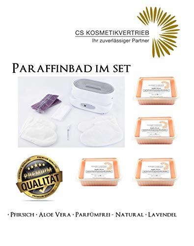 Paraffinbad/Wachserwärmer 3L Digital im Set inkl. 4x 750g Paraffinwachs Pfirsich & Zubehör