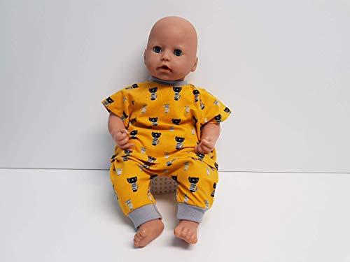 MepsiDesigns Handmade Puppenkleidung Set gelb Katzen Pumphose und Tshirt für 46/48cm Baby Annabell Chou Chou