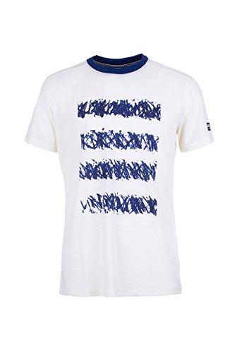 super.natural Herren M Graphic Tee Merino T-Shirt Mehrfarbig (Fresh White/Sketch Location Print)