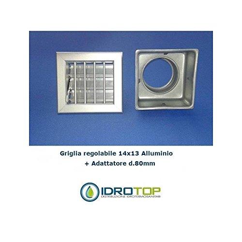 Düse Luft CM14X 13Aluminium mit Netzteil d.80-griglia X Kamin verstellbar