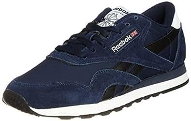 Reebok Classic Nylon R13, Herren Sneakers, Blau (Collegiate Navy/Black/White), EU 42 (UK 8/US 9)