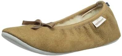 Shepherd SAGA 1208, Pantofole donna, Brown - Braun (Camel 55), 36