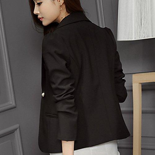 YiLianDa Donna Blazer Ufficio Tailleur Elegante Blazer Coat Jacket Giacca Outwear Tailleur Giacca Nero