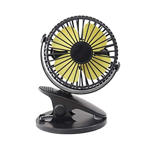 Tianya Mini Tragbare Fans Tragbare Wiederaufladbare 360 USB Fan Clip Camping auf Mini Tischventilator Kinderwagen Hut Auto ()