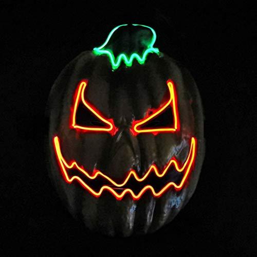 Kostüm Kind Up Light - Hankyky Light Up Pumpkin Mask Kostüm für Herren, Damen, Kinder