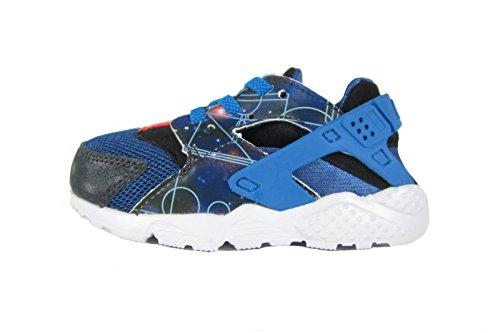 Nike - Huarache Run Print (Td), Scarpe sportive Unisex – Bimbi 0-24 Blu/viola/nero (Mtlc Hmtt/Mtllc Gld-Lt Pht Bl)