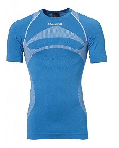 2xl Short Sleeve Shirt (Kempa Erwachsene Bekleidung Teamsport Attitude Pro Shortsleeve Herren T-shirt, kempablau/Weiß, XL/2XL)