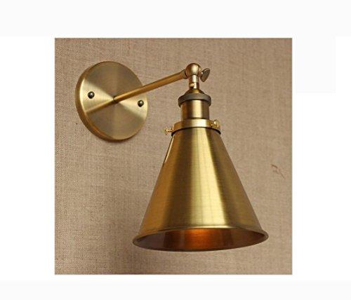 Weiting loft sconto illuminazione antico oro metallo lampada da parete regolare laboratorio lampada parete