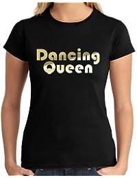 Dancing Queen Metallic Ladies T-Shirt