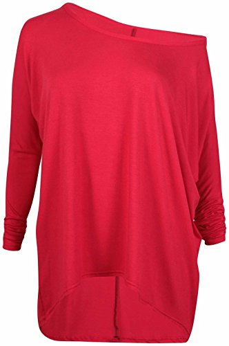 pour-femme-a-bandouliere-mesdames-extra-large-couche-lagenlook-bagg-haute-basse-pull-haut-rouge-s-m