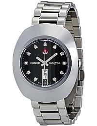 De cuarzo de Rado, de acero de plata de la esfera de color negro - el reloj de los hombres R12408614