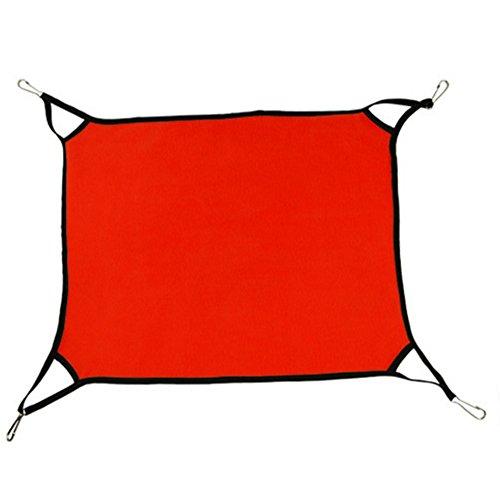 (YooGer Weiche Fleece-Haustier-Schlafenbetten, hängende Hängematte der Katze Weiches Vlies-Hamster-Kaninchen-Käfig-Bett Ferret Mat Sal, Rot)