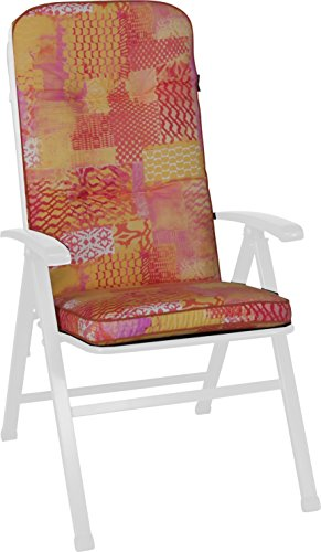 Angerer Stuhlauflage, Exklusiv Sesselpolster hoch Design California, mehrfarbig, 120x50x7 cm,...