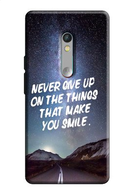EU4IA Never Give Up Quotes PRINTED MATTE FINISH Back Cover Case For MOTOROLA MOTO X PLAY - D286  available at amazon for Rs.299