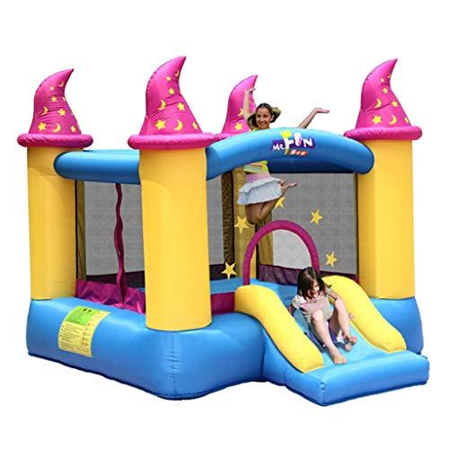 Hüpfburgen Rutsche Für Kinder Im Freien Aufblasbarer Park Für Kinder Spielplatz Für Jungen Und Mädchen Indoor-Trampolin Naughty Fort Plaza (Color : Blue, Size : 279 * 236 * 213cm)