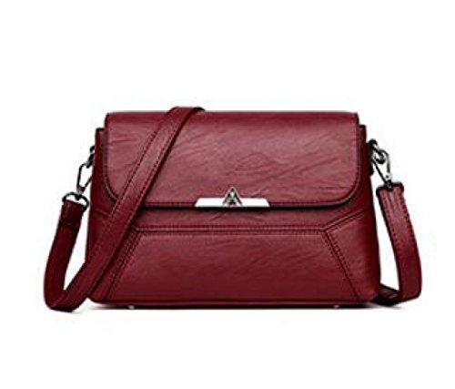 Cabrio Hobo Bag (Frauen-Schulterbeutel Art Und Weise PU-Leder-Kreuz-Körper-Beutel-Geldbeutel-Handtaschen-Umhängetasche,Red-26.5*10*18.5cm)