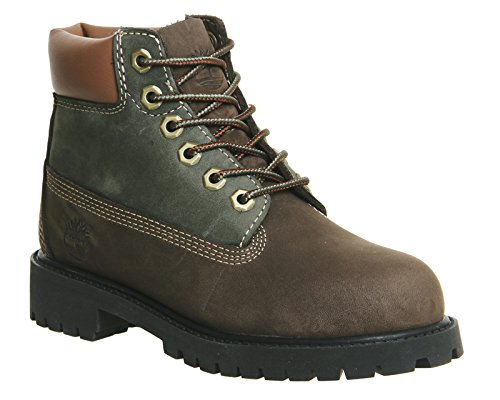 Timberland Kids 6-Inch Premium Leather Boots Marron