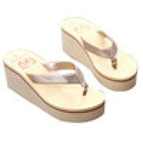 Sandalias y Chancletas de Plataforma para Mujer, QinMM Playa Zapatos de Verano 37, Dorado