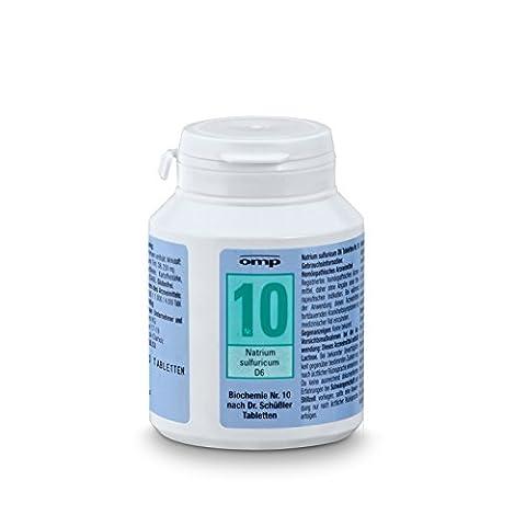 Schuessler Salz Nr. 10 - Natrium sulfuricum D6 - 400 Stk. Tabl., Biochemie, glutenfrei