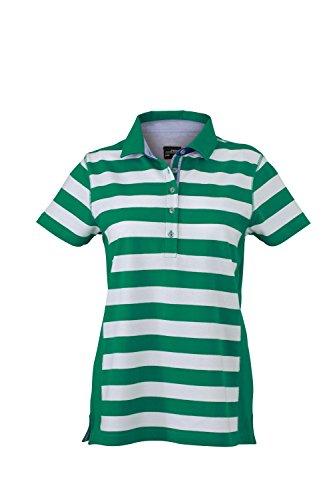 Maglietta polo con moderno motivo a strisce Ladies' Maritime Polo irish-green/white
