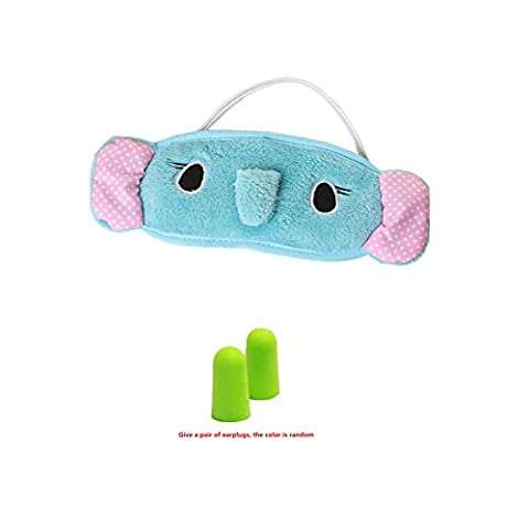 Maske Augenmaske Kühlgel Verbindung für Schlaf-und Reise, heiß oder kalt Pflege, Ideal für Schlaflosigkeit Xagoo® Schwellungen und Augenringe mit Ohrstöpseln (Blau)
