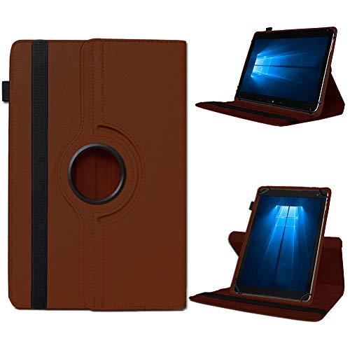 UC-Express Telekom Puls Tablet Hülle Tasche Schutzhülle Case Schutz Cover 360° Drehbar Etui, Farben:Braun