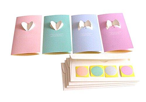 Angel Series-Karten, 8 Karten + 8 Umschläge + 8 Rollenwechsler/Zufall Lieferung
