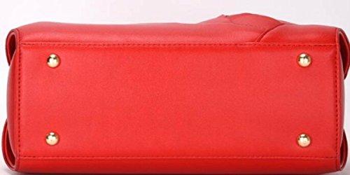 Borsa A Tracolla Tote Bag Da Donna Borsa Elegante Borsa Shopper Borsa A Mano In Pelle PU Borsa A Mano (rosso) Red