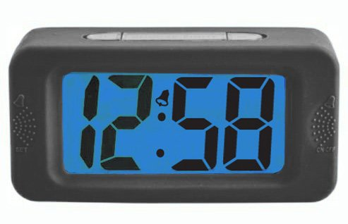 Acctim Black LCD Alarm Clock (330709722) Best Price and Cheapest