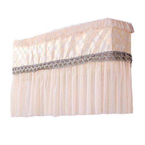 raylans Klimaanlage Lace Cover Innen Staubfrei, Jahr um Displayschutzfolie Home Decor, beige, 2P#
