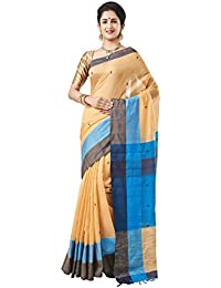Slice Of Bengal Handloom Tangail Silk Cotton Jamdani Saree Beige