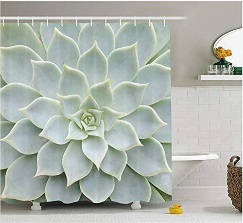 Pxh Duschvorhang, Blumendekor, 165 x 180 cm, wasserfest, für Badezimmer -