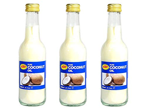 KTC - Noix de coco huile - Pack de 3 x 250 ml - 100%