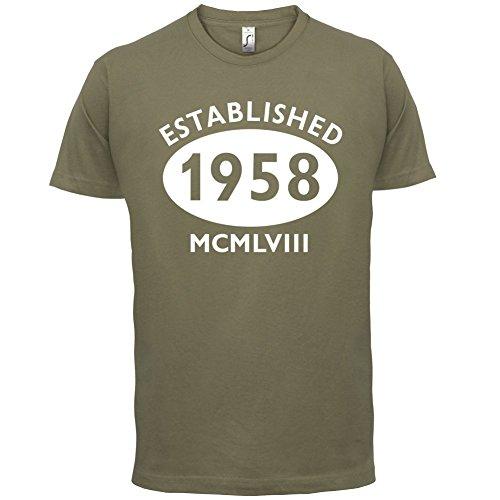 Gegründet 1958 Römische Ziffern - 59 Geburtstag - Herren T-Shirt - 13 Farben Khaki