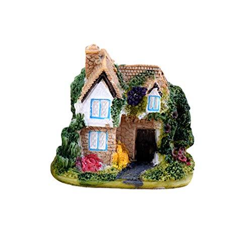 YeahiBaby Miniatur Haus Landschaft Garten Ornament für Feegarten Blumentopf Sukkulenten Kaktus Pflanze Deko (Zufall)