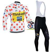 TFGY Ciclismo Profesional MTB Ciclista Racing Bike City, Man Jersey de Ciclismo Mangas largas + con Pantalones Gel Acolchado 3D Juego de Ciclismo Profesional,XL