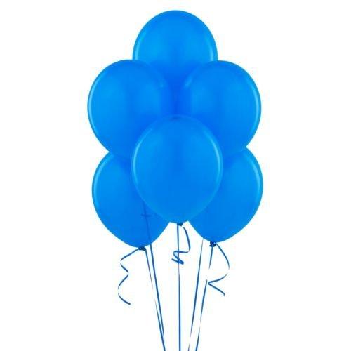 BWS SRL- Conf. 100 Palloncini Lattice 12'/30 cm, Colore Blu, RR12P10