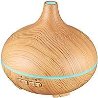 VicTsing Humidificador Aromaterapia Ultrasónico, Difusor de Aceites Esenciales 150ml, 7-Color LED, Seguro y Elegante, 3-Ajuste de Tiempo Fijo, Auto-Apaga, purificar el Aire y mejorara el Aire seco