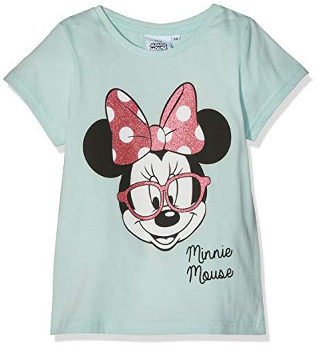 Disney Minnie Mouse Mädchen T-Shirt Pink Specs Blau (Blue) 6-7 ()
