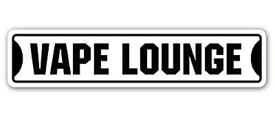 Novelty Sign Gift Vape Lounge Street Sign Gift Vaping Smoking Vapor E Cigarette Liquids Quit Vaper Yard Decorative Aluminum Metal Sign for Bedroom, Offices by Aersing