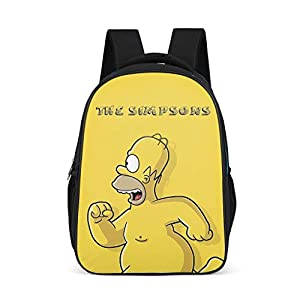 417iLJfEImL. SS300  - Mochila unisex para niños The Simpsons, mochila para niños, divertida impresión amarilla para bebés y niños pequeños Gris gris talla única
